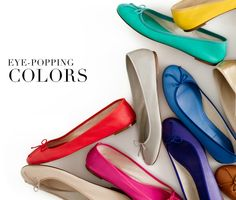 We love how a simple accessory like a bright coloured flat can make an outfit go from average to outstanding.