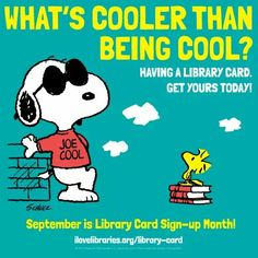 Snoopy library card stickers bestsellers clothing gifts and septemberlibrary cord sign up month fandeluxe Gallery