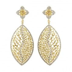 Rose Cut Diamond Earring in 14K YG SKU# E1060