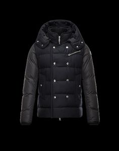 Moncler Herren Anorak, shop Moncler Herren LUCIEN Anorak Schwarz Wolle/Polyamid österreich