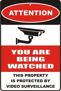 personalized custom made VIDEO SURVEILLANCE sign by ATDdesignLLC, $16.99