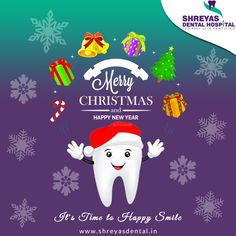 It's Time to Happy Smile, Don't worry about your teeth this holiday season May this #Christmas spread full of smiles, love and a lot of peace in your lives! www.shreyasdental.in   Wish you all a #MerryChirstmas!!  #ShreyasDentalHospital #DentalImplant #Ahmedabad