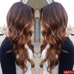 Long wavy brown blonde ombre hair hairstyle