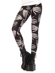 Skelett-Hände Halloween-Leggings Gothic schwarz-weiss. Aus der Kategorie Halloween Kostüme / Halloween Strumpfhosen / Leggings. Diese Gothic-Leggings ist nicht nur an Halloween ein absolutes Highlight, sondern auch im Alltag ein geniales Fashion-Statement für Punks, Goths und alle Freunde des Morbiden!