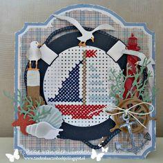 Tineke's kaartenhoekje Tiny Cross Stitch, Cross Stitch Cards, Cross Stitching, Cross Stitch Embroidery, Cross Stitch Patterns, Paper Embroidery, Embroidery Patterns, Nautical Cards, Marianne Design