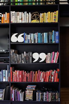 DIY Quotation Mark Bookends