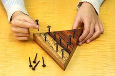Last man standing wooden game