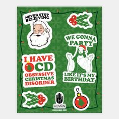 Merry Christmas Stickers #art #decor #design #stickers #fun #trendy #christmas #funny #santa #jesus #awesome #winter #december