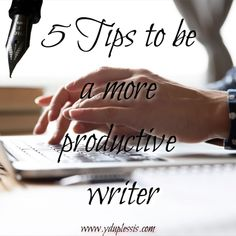 5 Tips for being a more productive writer  So you want to be a more productive writer? So do I. At times I am really productive and at other times, I am the queen of procrastination.  #writing #planning #outline #environment #sleep #writer A Writer's Life, How To Stop Procrastinating, Fiction And Nonfiction, Read More, Outline, Productivity, Stuff To Do, Environment, Author