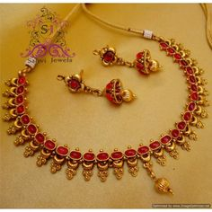 Antique Ruby Polki Necklace
