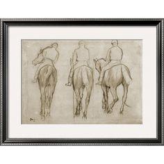 Jockeys by Edgar Degas//