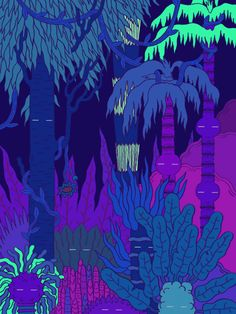 DAY & NIGHT - gif illustration by Micah Lidberg for Scrawl Magazine