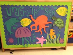 Under the sea ocean bulletin board idea