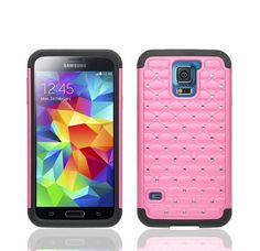 Pink S5 Samsung Smartphone  Diamond Crystal Bling Shockproof Case FILM PROTECTOR #UnbrandedGeneric   Check our store ebay.com/usr/synet6034 for more price cuts https://www.facebook.com/SyInternetSolutions