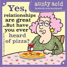 Relationships and pizza