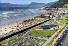 "Etienne du Plessis   Muizenberg beach 1964   ""In those days Putt-Putt was the'' in "" thing."" (and in those days it was ""Whites Only"")"