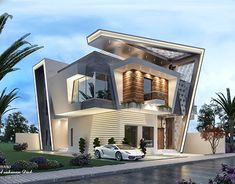 Home luxury exterior 21 Ideas for 2019 Modern Exterior House Designs, Modern House Facades, Modern Villa Design, Bungalow Exterior, Dream House Exterior, Exterior Design, Bungalow House Design, House Front Design, House Architecture Styles