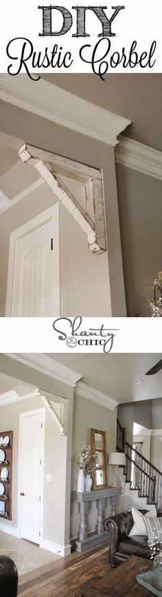Best DIY Projects: Build this EASY Rustic Corbel with scrap wood! Love it!