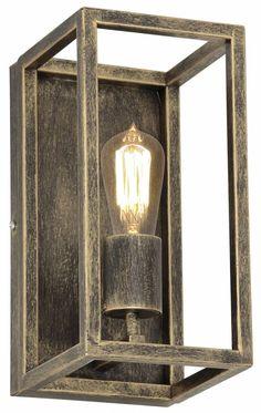 Landelijke wandlamp roestkleur, oud koper of zwart