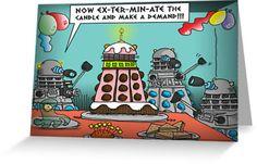 The Dalek Birthday Party by ToneCartoons