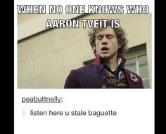 So many of my friends don't know who he is. And this is my exact facial expression lol #aarontveit #lesmiserables #reaction #facialexpressions