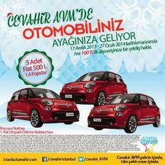 Cevahir AVM Çekiliş Kampanyası - Cevahir AVM Fiat 500L Çekilişi http://www.kampanya-tv.com/2014/01/cevahir-avm-cekilis-kampanyasi-cevahir-avm-fiat-500l-cekilisi.html