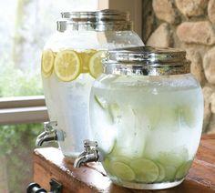 Água aromatizada para refrescar -