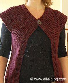 Veste sans manche femme en tricot