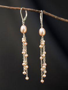 Pearl and Chain Earrings