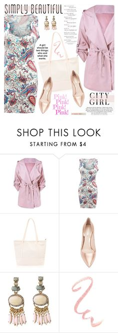 """""""City Girl Spring Style"""" by katjuncica ❤ liked on Polyvore featuring Nicholas Kirkwood, H&M, Stila, Spring and Pink"""
