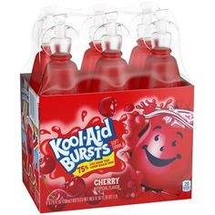 Pack) Kool-Aid Bursts Cherry Ready-to-Drink Juice, 6 - fl oz Packs Refreshing Drinks, Yummy Drinks, Cherry Drink, Bad Room Ideas, Mexican Birthday, Bff Birthday Gift, Confectioners Glaze, Sweet Cherries, Juice Bottles