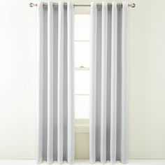 "95"", cool white, MarthaWindow™ Hampton Basketweave Grommet-Top Curtain Panel - JCPenney"