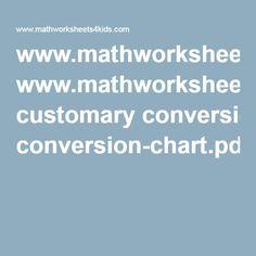 www.mathworksheets4kids.com customary conversion-chart.pdf