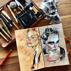 Exquisite Learn To Draw A Realistic Rose Ideas. Creative Learn To Draw A Realistic Rose Ideas. Portrait Sketches, Portrait Illustration, Portrait Art, Art Sketches, Drawing Portraits, Realistic Drawings, Cool Drawings, Gcse Art Sketchbook, Sketchbooks