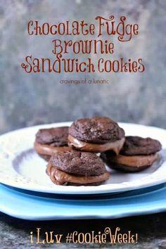Chocolate Fudge Brownie Sandwich Cookies | Best Recipes Ever