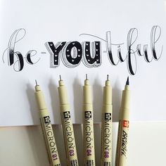 Be-YOU-tiful 😊 Loving the lettering with positivity challenge, such a lovely way to start the day. Have a lovely thursday everyone! Creative Lettering, Lettering Styles, Brush Lettering, Lettering Design, Calligraphy Doodles, How To Write Calligraphy, Calligraphy Letters, Calligraphy Quotes, Filofax