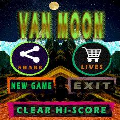 Van Moon es un juego muy adictivo y entretenido.  Prepárate para para evitar (socavones, piedras, meteoritos, naves, y halos ardiendo.)