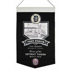Detroit Tigers MLB Tiger Stadium Stadium Banner (20x15)