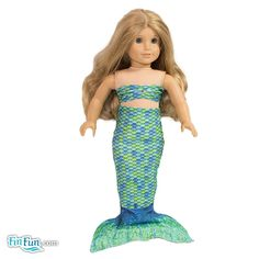 Aussie Green Doll Tail and Top - American Girl $12.95
