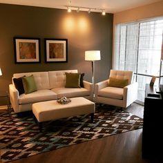 @bfr_elkgrove model apartment in Glenview, love the pops of co...