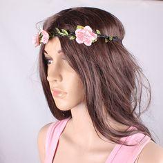 NEWS women  fashion hand-string pearl twist weave hair band, flower headband, hair accessories $3.80