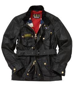 Stylish jacket by Barbour Barbour Motorcycle Jacket, Barbour Mens, Barbour Jacket, Motorcycle Outfit, Barbour Steve Mcqueen, Suits You Sir, Barbour Clothing, Waxed Cotton Jacket, Barbour International