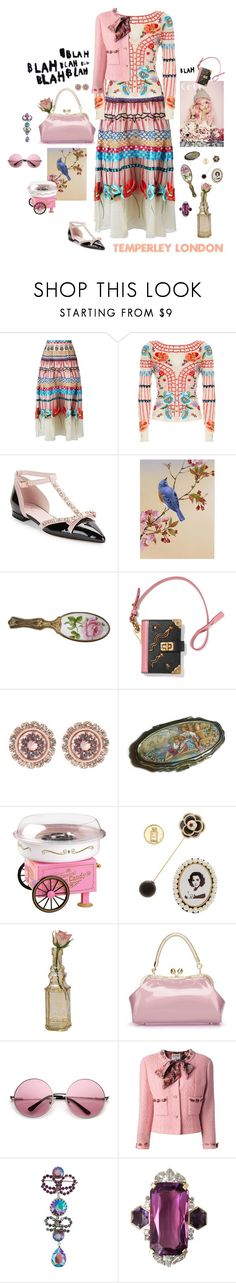 """Vintage blah"" by mbarbosa ❤ liked on Polyvore featuring Temperley London, Kate Spade, Prada, Ted Baker, Parlor, Nostalgia Electrics, Cara Accessories, Cultural Intrigue, Chanel and Christian Dior"