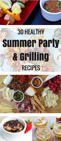 I LOVE grilling season! Something about veggies and meat on the grill lets us all know that summer is officially here. And I've started to brainstorm and remember my favorite summer grilling and party recipes. So here's a little list if you're looking for inspiration, too!   Party Food   The Fitnessista Healthy Grilling Recipes, Barbecue Recipes, Healthy Meats, Grill Recipes, Healthy Snacks, Best Meat To Grill, Appetizer Recipes, Party Recipes, Appetizers