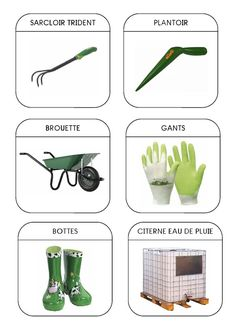Imagier du jardin - Les outils 2 Learn French, Learn English, Maternelle Grande Section, File Folder Games, French Classroom, French Language Learning, Montessori Materials, Spring Activities, School Themes