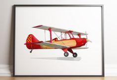 Aviation Nursery, Aviation Decor, Kids Prints, Wall Prints, Boys Room Decor, Nursery Decor, Nursery Paintings, Vintage Airplanes, Printable Wall Art