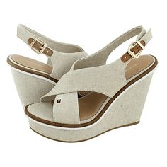 Flak - Tommy Hilfiger Women's platforms made of fabric with fabric lining,  synthetic outsole and a heel height of 10½ cm.  Available in Black and Beige color.