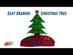 How to Draw a Christmas Tree | Easy School Project for Kids | JK Easy Craft 096 - YouTube