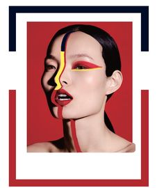 • Vogue China's September 2017 issue, Ling Liu by Ben Hassett • digital collage by Nor Laura