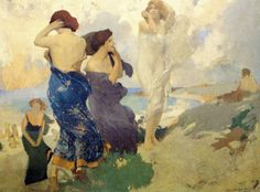 Arthur Mathews  Dancing Girls